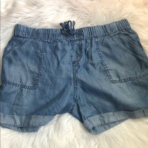 Pants - Baggy Beach Jean Shorts